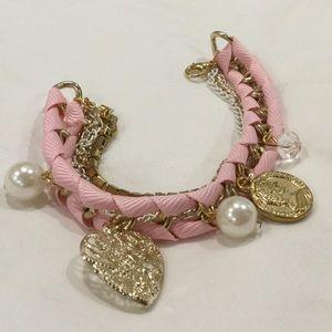 Jewelry - Pink charm bracelet